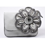 Charming gray handbag for women X-2171