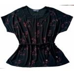 Elegant black and red blouse