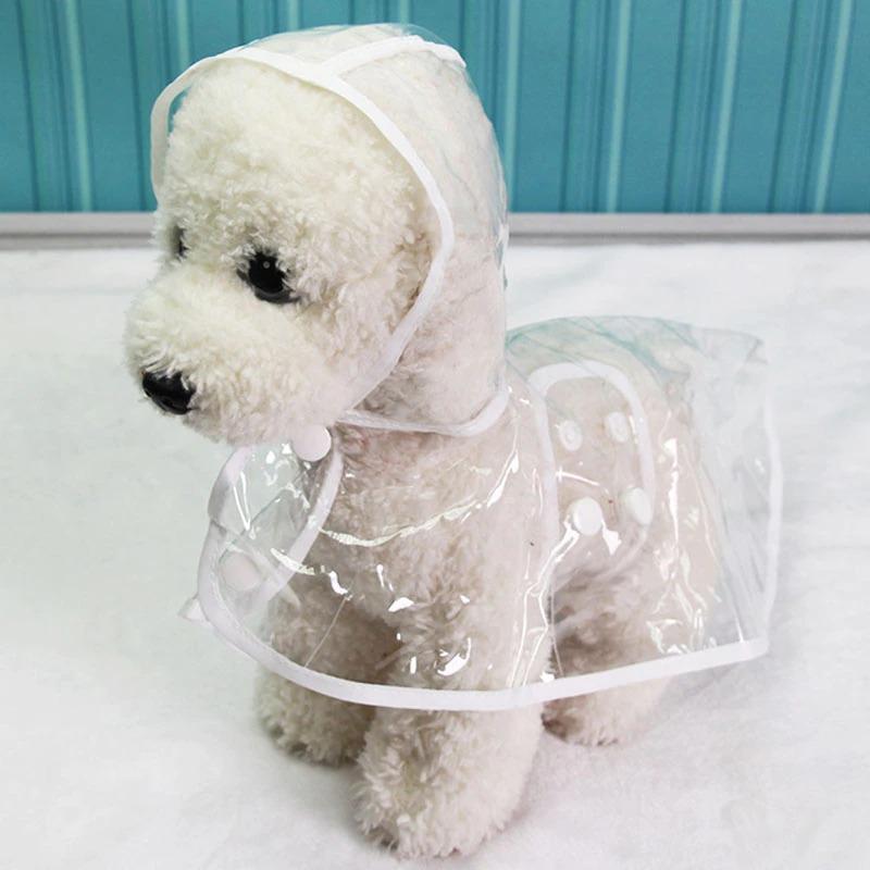 Pelerina de ploaie transparenta pentru caini de talie mica